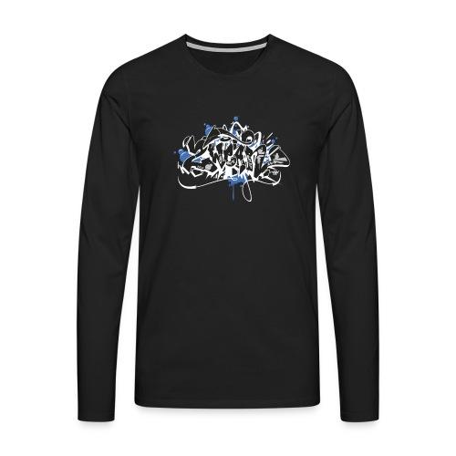 Dae 2Wear graffiti style ver01 black edt - Herre premium T-shirt med lange ærmer