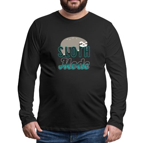 Sloth Mode Tired AF Running Shirt - Männer Premium Langarmshirt