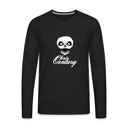 logo Chris Century blanc - T-shirt manches longues Premium Homme