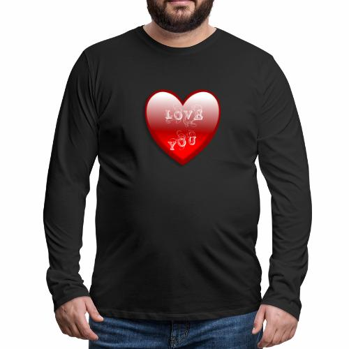 Love You - Männer Premium Langarmshirt