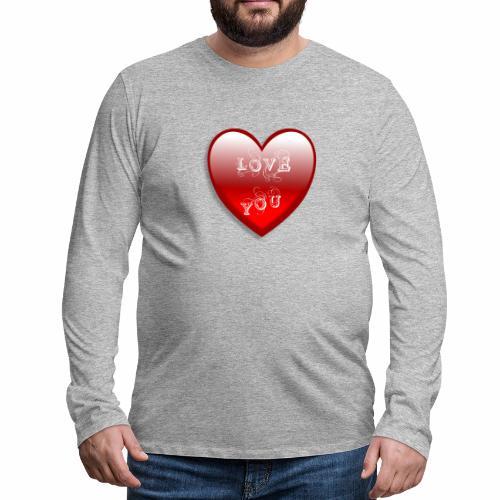 Love You - Männer Premium Langarmshirt