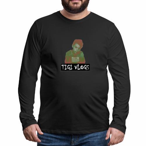 TIGIVLOGS JUL MERCH! - Långärmad premium-T-shirt herr
