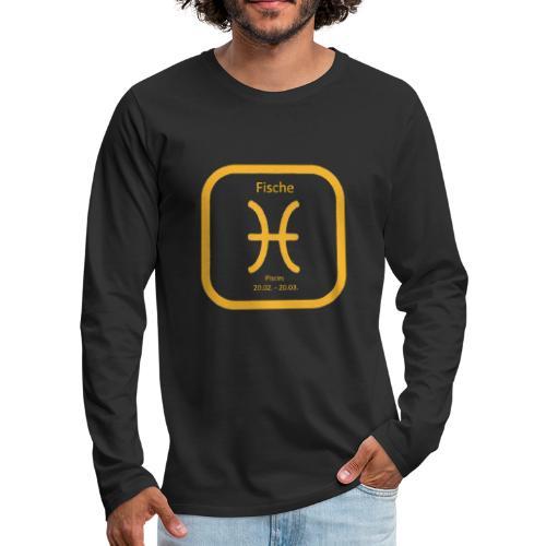 Horoskop fish12 - Koszulka męska Premium z długim rękawem