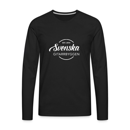 Svenska Gitarrbyggen Vit png - Långärmad premium-T-shirt herr