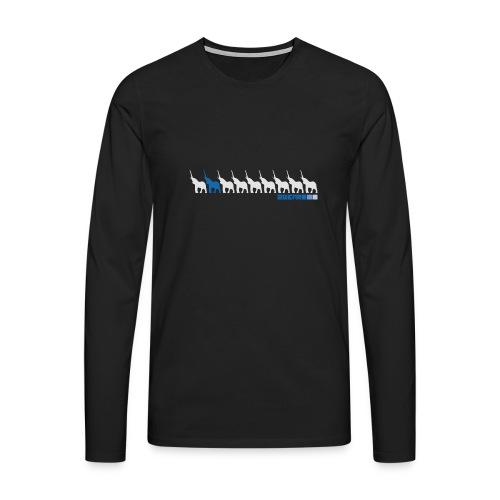 Karma street flow - Herre premium T-shirt med lange ærmer