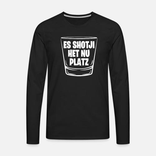 ES SHOTJI HET NU PLATZ - Männer Premium Langarmshirt