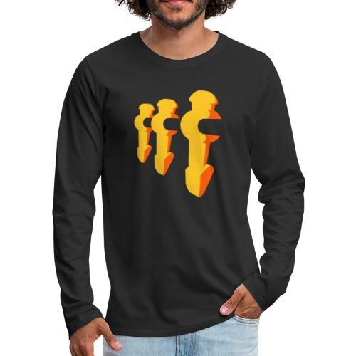 Kickerfiguren - Kickershirt - Männer Premium Langarmshirt