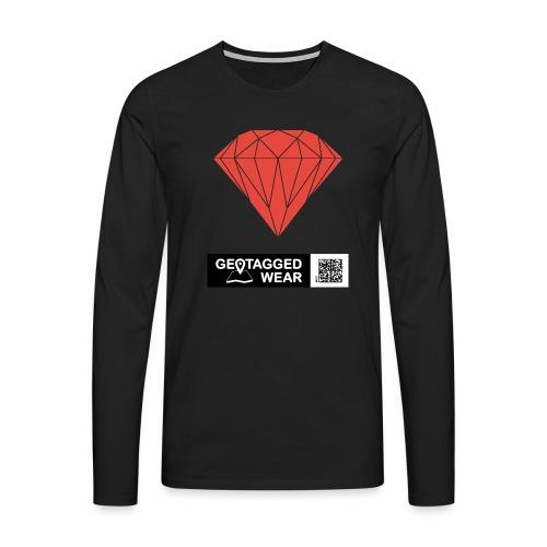 Unisex Diamond Pantone Cherry Tomato - Männer Premium Langarmshirt