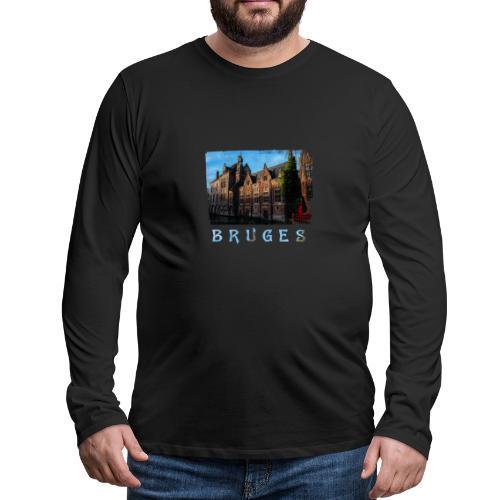 Bruges   Old houses - Mannen Premium shirt met lange mouwen