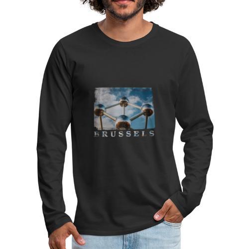 Brussels   Atomium - Mannen Premium shirt met lange mouwen
