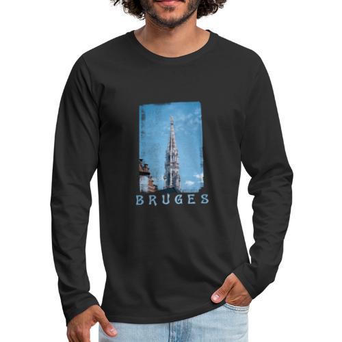 Bruges   Belfort - Mannen Premium shirt met lange mouwen