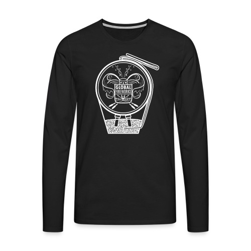 Global Feuerwerk Pyro Shell - Männer Premium Langarmshirt