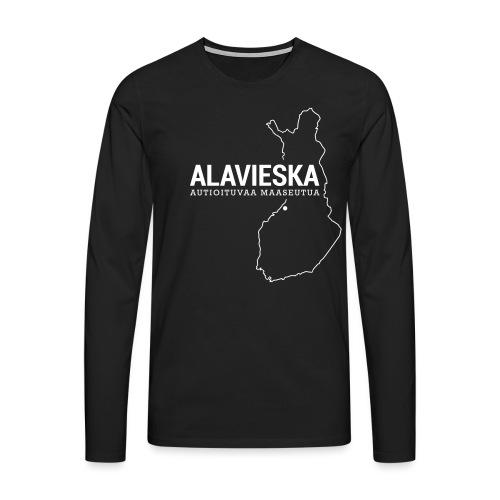 Kotiseutupaita - Alavieska - Miesten premium pitkähihainen t-paita