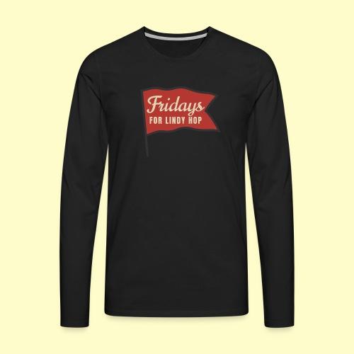 Lindy Hop Swing Tanz Geschenk T-Shirt - Männer Premium Langarmshirt
