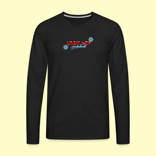 Lindy Hop Wonderland Tanz T-shirt - Männer Premium Langarmshirt