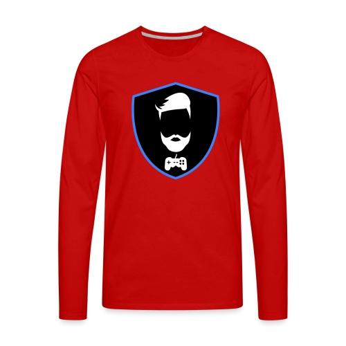 Kalzifertv-logo - Herre premium T-shirt med lange ærmer