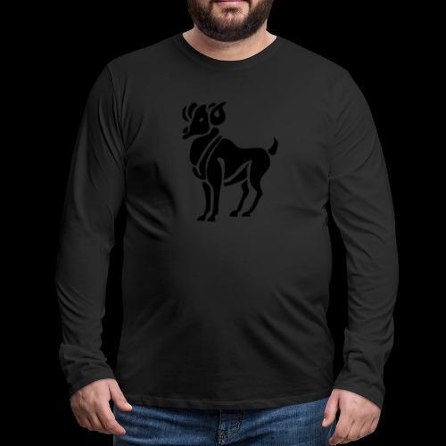 STERNZEICHEN WIDDER - Männer Premium Langarmshirt