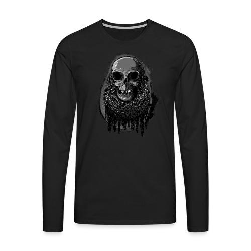 Skull in Chains - Men's Premium Longsleeve Shirt