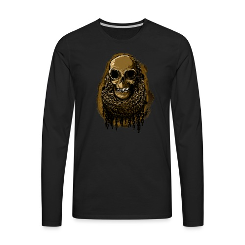 Skull in Chains YeOllo - Men's Premium Longsleeve Shirt