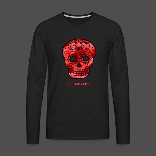 Skull Roses - Koszulka męska Premium z długim rękawem