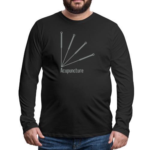 Acupuncture Eventail vect - T-shirt manches longues Premium Homme