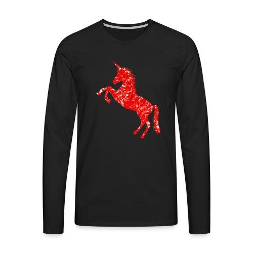 unicorn red - Koszulka męska Premium z długim rękawem
