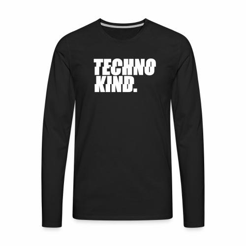 Techno Kind Rave Kultur Berlin Vinyl Progressive - Männer Premium Langarmshirt