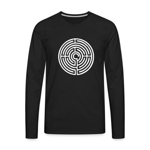 Labyrinth Schutzsymbol Lebensweg Magie Mystik - Männer Premium Langarmshirt