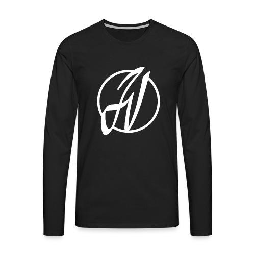JV Guitars - logo blanc - T-shirt manches longues Premium Homme