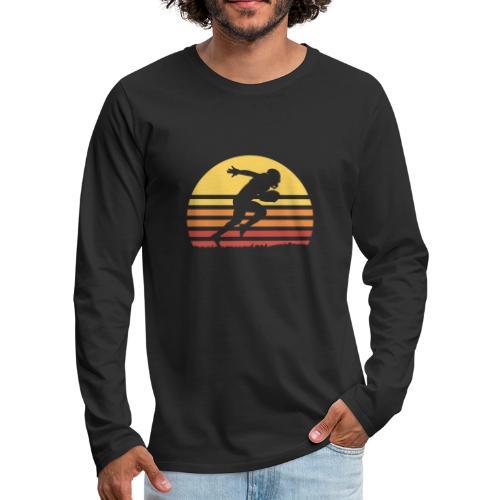 Football Sunset - Männer Premium Langarmshirt