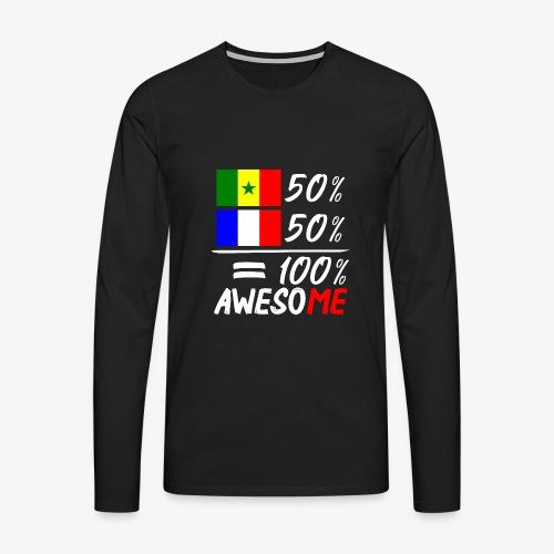 Moitié Français moitié Sénégalais - Männer Premium Langarmshirt