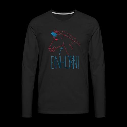 Einhorn - Männer Premium Langarmshirt