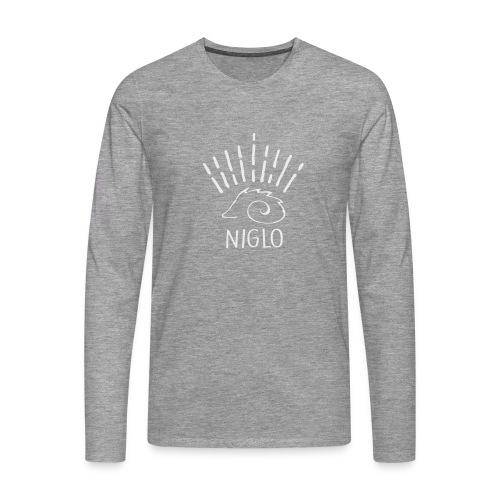 niglo king gris hérisson - T-shirt manches longues Premium Homme