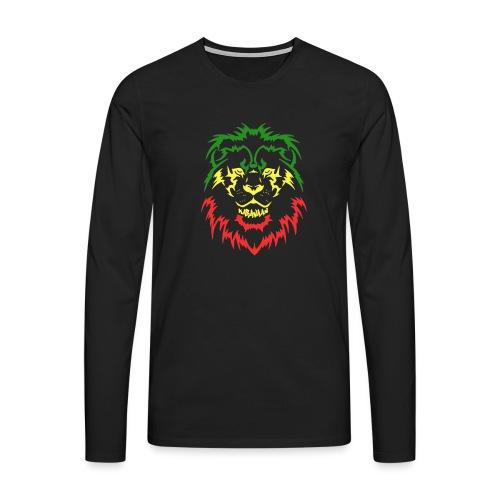 KARAVAAN Lion Reggae - Mannen Premium shirt met lange mouwen