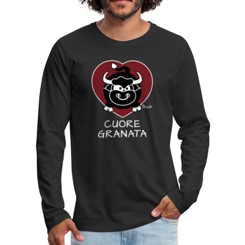 Torino Cuore Granata, Football Club, Calcio Italia - T-shirt manches longues Premium Homme