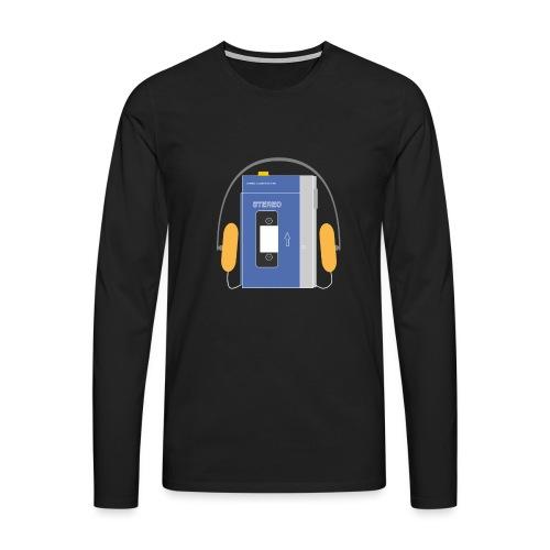 Stereo walkman in blue - Men's Premium Longsleeve Shirt