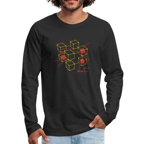 Connection Machine CM-1 Feynman t-shirt logo - Men's Premium Longsleeve Shirt