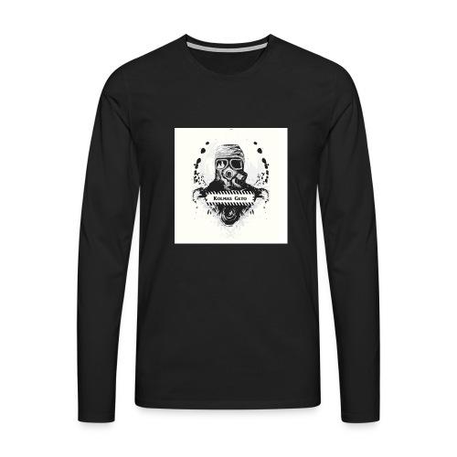 KOLMAS GETO LOGO VALMIS ISO RESOLUUTIO - Miesten premium pitkähihainen t-paita