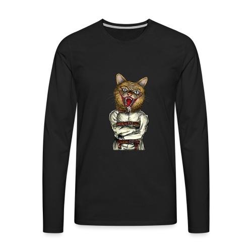 Crazy Cat - T-shirt manches longues Premium Homme