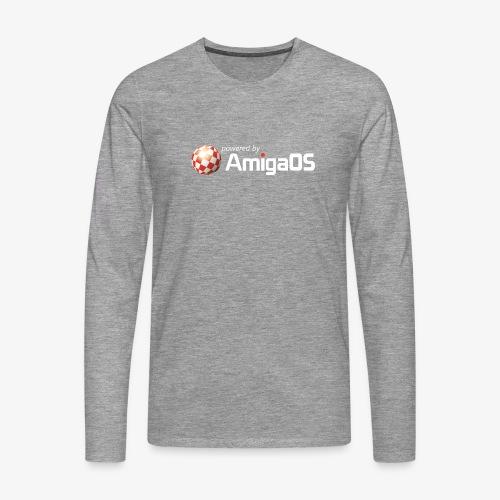 PoweredByAmigaOS white - Men's Premium Longsleeve Shirt