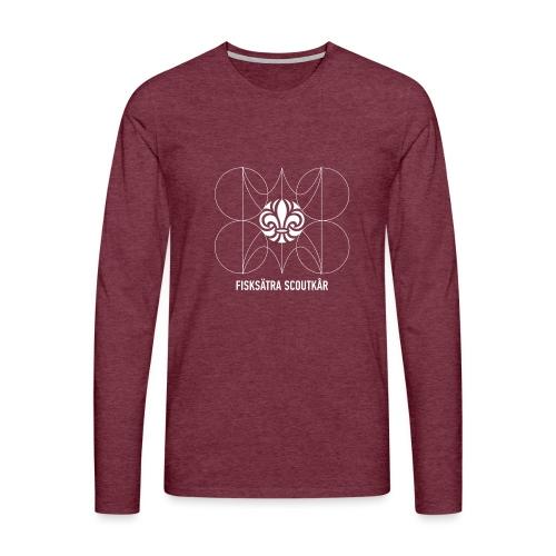 PNG Vit2 webb Fisksätra scoutkår transparant png - Långärmad premium-T-shirt herr