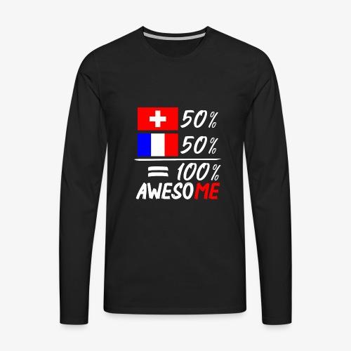 50% Schweiz 50% Frankreich - Männer Premium Langarmshirt