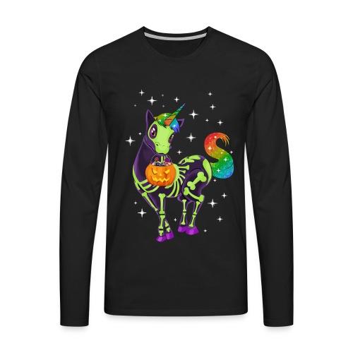 Unicorn pumpkin hallowen - Men's Premium Longsleeve Shirt