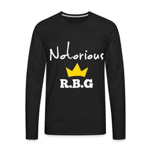Notorious R.B.G ruth bader ginsburg shirt - Men's Premium Longsleeve Shirt