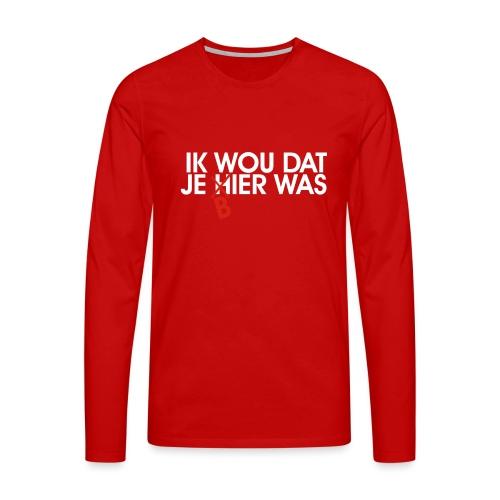 Je souhaite que vous étiez la bière - T-shirt manches longues Premium Homme
