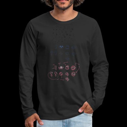 Overscoped concept logos - Men's Premium Longsleeve Shirt