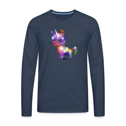 Llamacorn - Herre premium T-shirt med lange ærmer