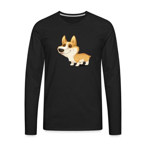 Corgi - Premium langermet T-skjorte for menn