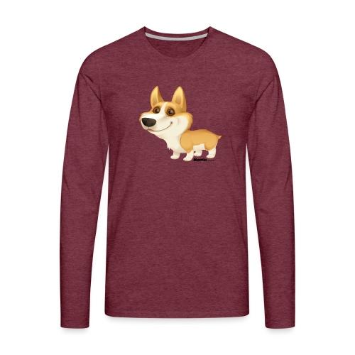 corgi - Herre premium T-shirt med lange ærmer