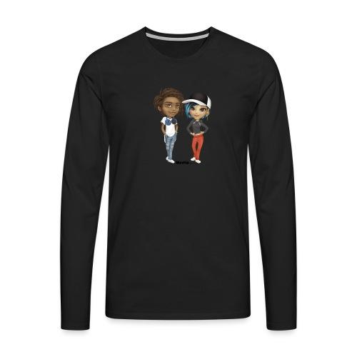 Maya & Noa - Premium langermet T-skjorte for menn